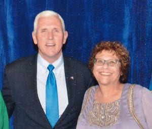 Mike Pence and Merrill Socher-Axelrod (Courtesy Merrill Socher-Axelrod)
