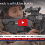 Number of Female IDF Combat Soldiers Doubles