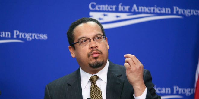 Keith Ellison Embraces Anti-Semitic UK Leader Jeremy Corbyn