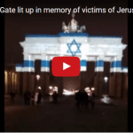 Solidarity in Terror: Israeli Flag Lights Up Berlin Monument Where Swastikas Once Flew