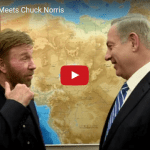 PM Netanyahu Meets Legend Chuck Norris in Jerusalem