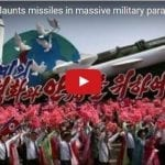 North Korea Flaunts Missiles in Massive Military Parade