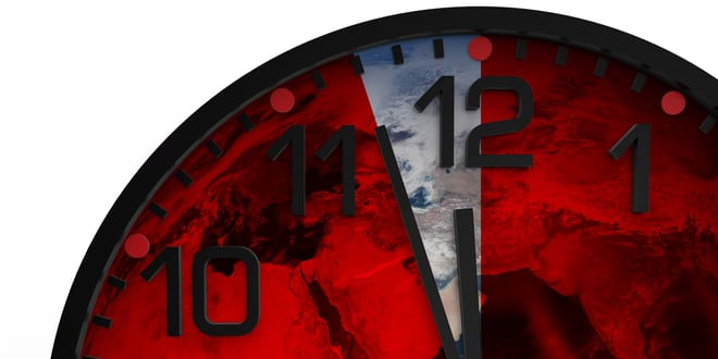 Scientists Set Doomsday Clock at Two-Minutes to Midnight