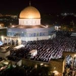 Thousands of Palestinians Flood Temple Mount on Last Day of Ramadan