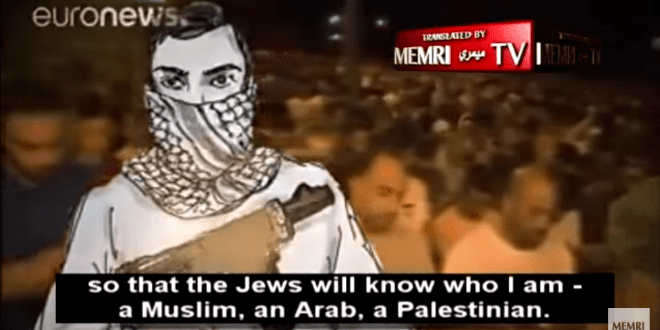 "Disturbing Graphic Hebrew Music Video Calls for Arabs to ""Attack, Tear, Stab"" Jews"