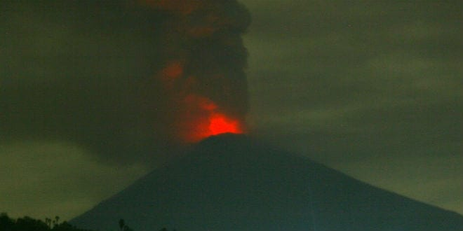 Volcanic Eruption Imminent in Bali as Mt. Agung Belches Fire and Smoke