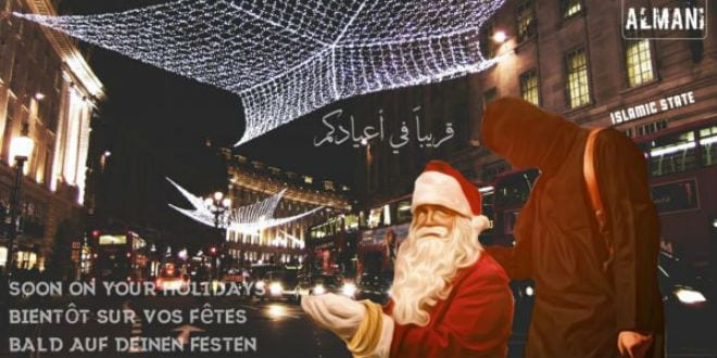 ISIS Calls for Christmas Attacks in New York, London With 'Terrorist Santa' Posters