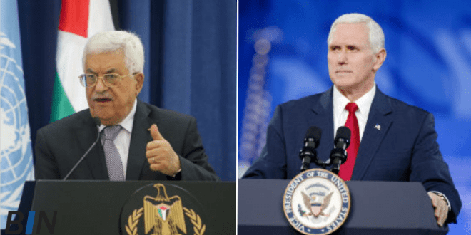 Furious Abbas Cancels Pence Meeting in Bethlehem