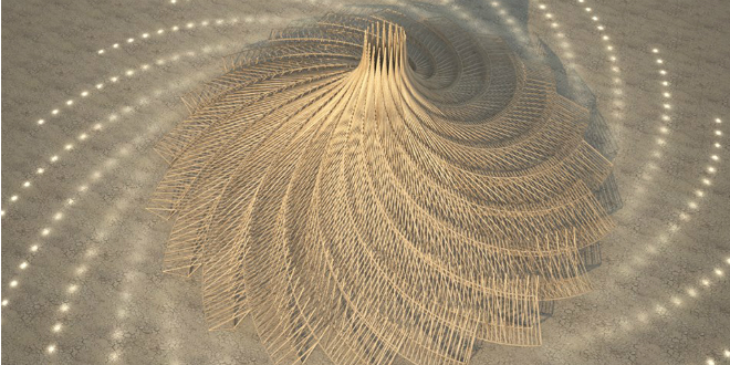 Temple of Galaxia, Burning Man (Photo via architect's Facebook page)