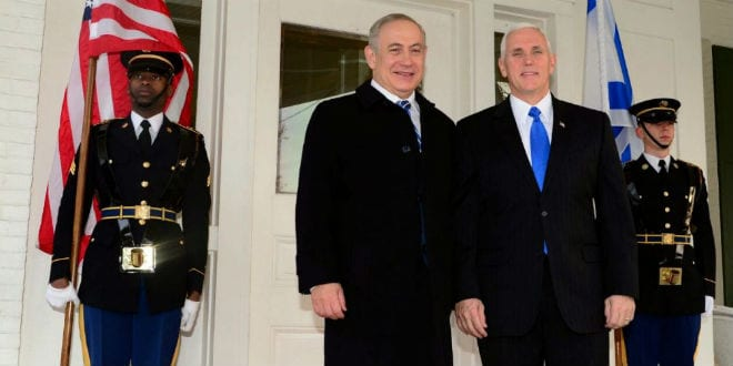 Pence Scheduled to Address Knesset January 22 Barring Changes