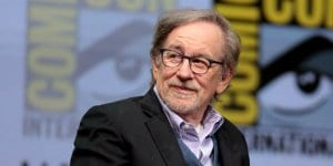 "Steven Spielberg speaking at the 2017 San Diego Comic Con International, for ""Ready Player One"", at the San Diego Convention Center in San Diego, California."