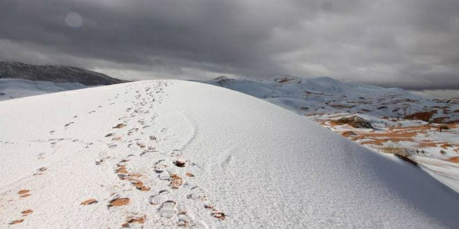 Increasing Snowfall in Sahara Desert a Sign of Messianic Redemption?