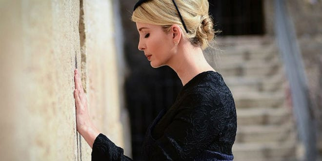 """Ivanka Prays At """"Rebbe's"""" Gravesite for Father's Victory"""