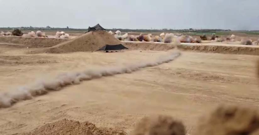 Watch: IDF Destroys More than 100 Grenades Thrown by Gaza Rioters - Breaking Isr...