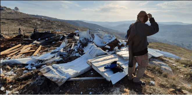 Israeli Samarian Family Homeless After Security Forces Destroy Their House