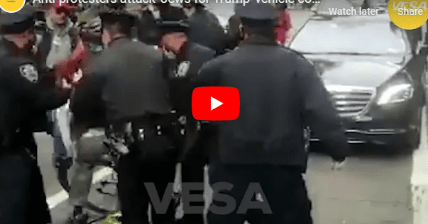 'Jews for Trump' Ambushed by Anti-Semitic Biden Supporters in NYC