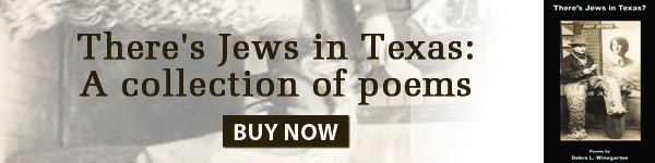 There's Jews in Texas: a collection of poems. Buy Now.