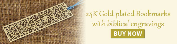 24K Gold plated Bookmarks with biblical engravings. Buy Now.