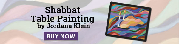 Shabbat Table Painting by Jordana Klein. Buy Now.