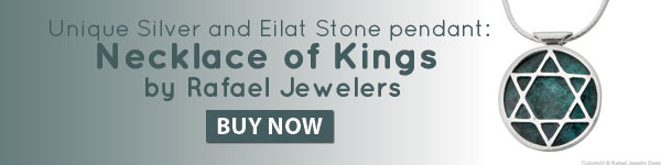 Unique Silver and Eilat Stone pendant: Necklace of Kings by Rafael Jewelers. Buy now!