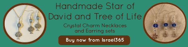 Handmade Star of David: Crystal Charm Necklaces & Earring Sets. Buy now!