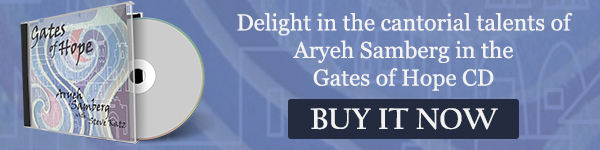 Delight in the cantorial talents of Aryeh Samberg in the Gates of Hope CD. Buy it now!