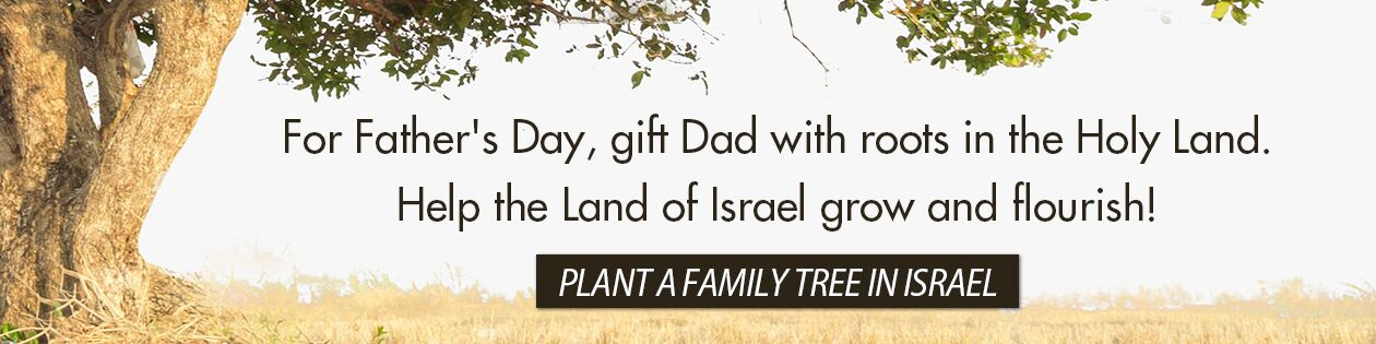 For Father's Day, gift Dad with roots in the Holy Land. Help the Land of Israel grow and flourish! Plant a family tree in Israel!