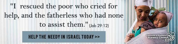 """I rescued the poor who cried for help, and the fatherless who had none to assist them."" (Job 29:12). Help the needy in Israel today!"