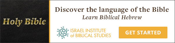 Immerse yourself in Biblical Hebrew